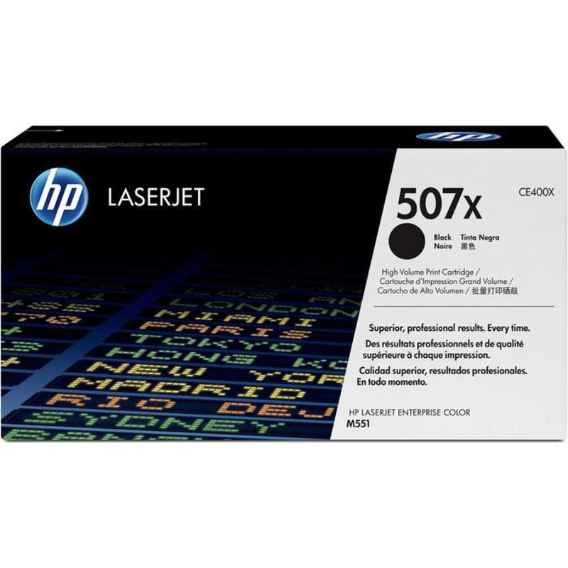 Картридж лазерный HP 507X CE400X черный оригинальный