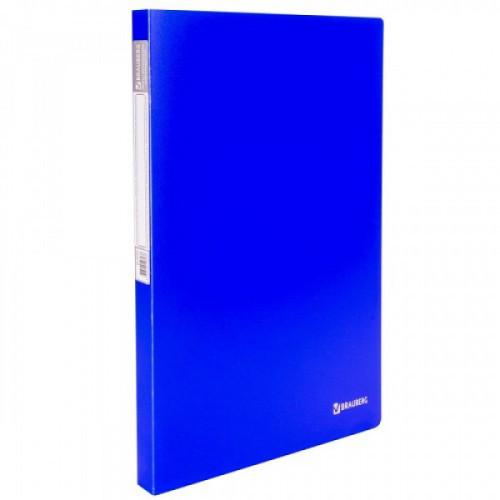 """Папка с пружинным скоросшивателем и внутренним карманом BRAUBERG """"Neon"""", 16 мм, синяя, до 100 листов, 0,7 мм, 227467"""