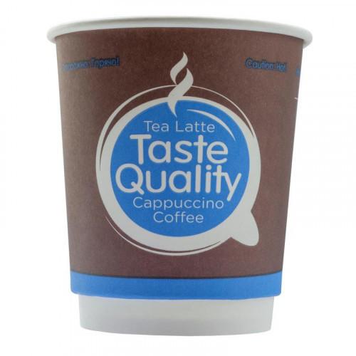 Стакан одноразовый бум двухслойный d-80мм 250мл Taste Quality (25шт/уп)