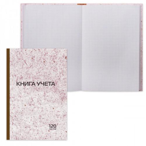 Книга учета 120 л А4 STAFF клетка, обложка твердая, справочная информация