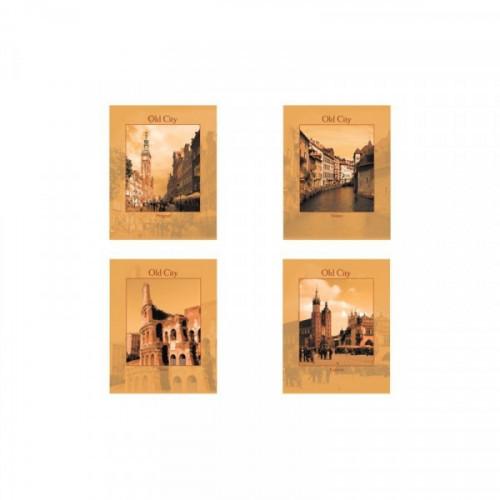Тетрадь А5, 96 л., STAFF клетка, офсет №2, обложка картон, ГОРОДА, 402467