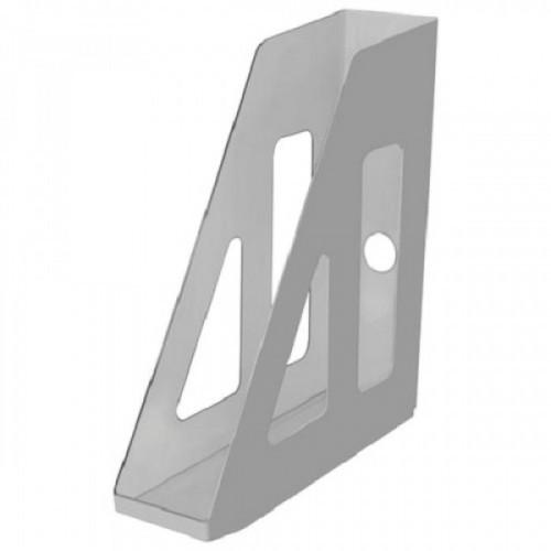 """Лоток вертикальный для бумаг СТАММ """"Актив"""", ширина 70 мм, серый, ЛТ510"""