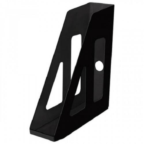 """Лоток вертикальный для бумаг СТАММ """"Актив"""", ширина 70 мм, черный, ЛТ511"""