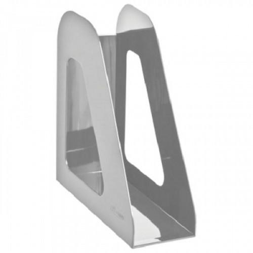 """Лоток вертикальный для бумаг СТАММ """"Фаворит"""", ширина 90 мм, серый, ЛТ706"""