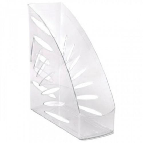 """Лоток вертикальный для бумаг СТАММ """"Тропик"""", ширина 110 мм, прозрачный, ЛТ352"""
