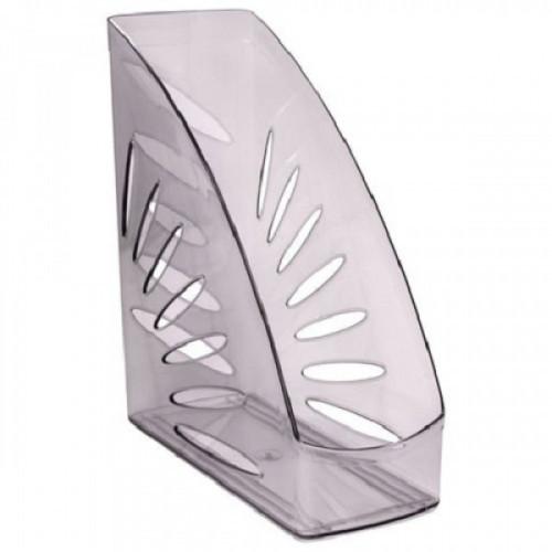 """Лоток вертикальный для бумаг СТАММ """"Тропик"""", ширина 110 мм, тонированный серый, ЛТ353"""