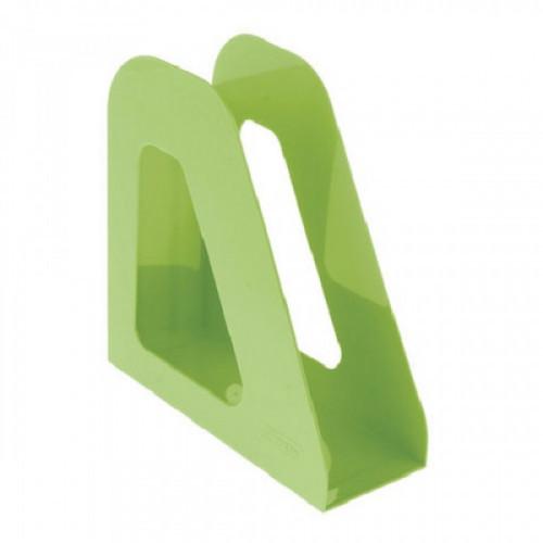 """Лоток вертикальный для бумаг СТАММ """"Фаворит"""", ширина 90 мм, зеленый, ЛТ720"""