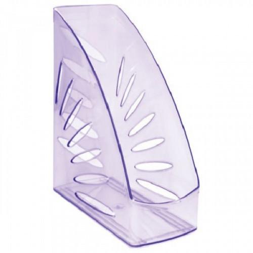 """Лоток вертикальный для бумаг СТАММ """"Тропик"""", ширина 110 мм, тонированный фиолетовый, ЛТ362"""