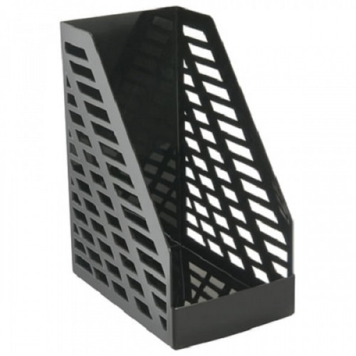 """Лоток вертикальный для бумаг СТАММ """"XXL"""", ширина 160 мм, черный, ЛТ901"""