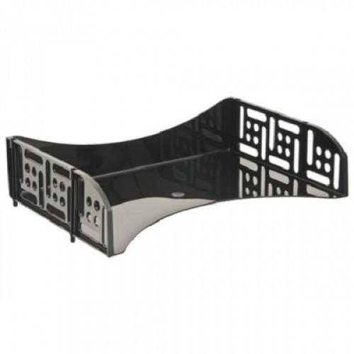 """Лоток горизонтальный для бумаг СТАММ """"Филд"""", поперечный, черный, ЛТ801"""