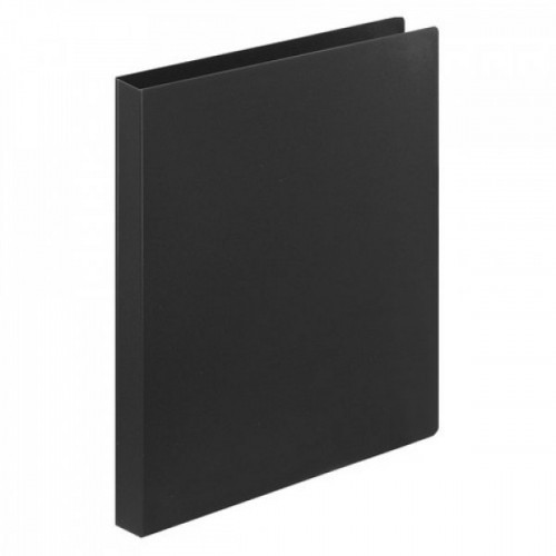 Папка на 2 кольцах STAFF, 21 мм, черная, до 120 листов, 0,5 мм, 225717