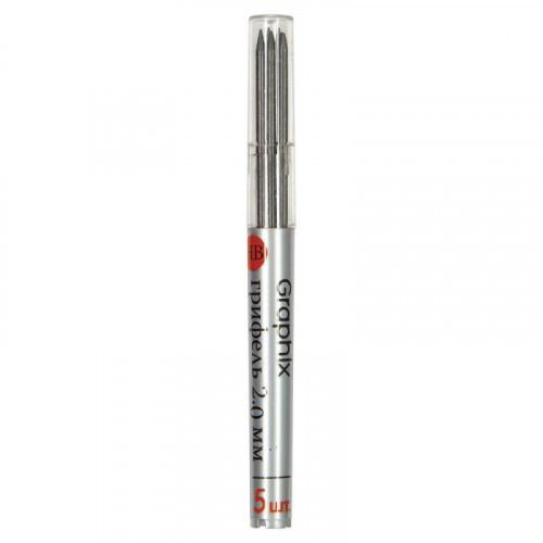Грифель для цангового карандаша 90 мм, BRUNO VISCONTI Graphix, HB, 2 мм, КОМПЛЕКТ 5 штук