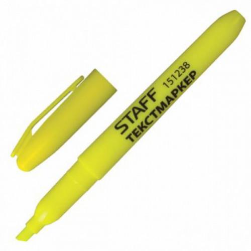 Текстовыделитель STAFF эргономичный корпус лимонный (толщина линии 1-3 мм)