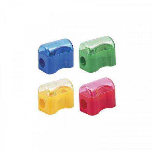 Точилка ПИФАГОР  Сундучок с контейнером, пластиковая, цвет корпуса ассорти