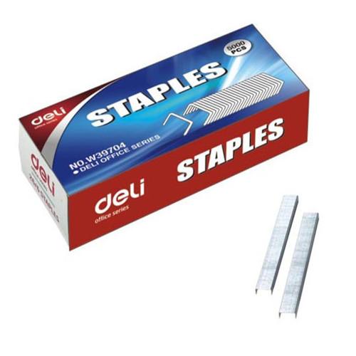 Скобы для степлера 26/6 Deli E39704 оцинкованные кор.карт. (упак.:5000шт.)