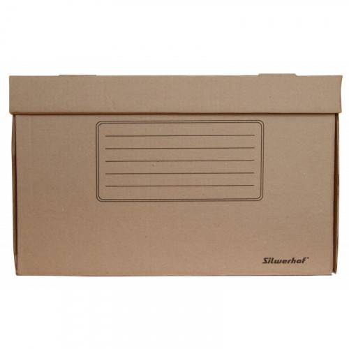 Короб архивный откидная крышка Silwerhof ОК-18 микрогофрокартон 480x325x295мм коричневый