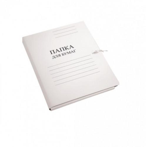 """Папка для бумаг, картон мелованный, 450г/м2, белый, 2 х/б завязки, """"deVENTE"""""""