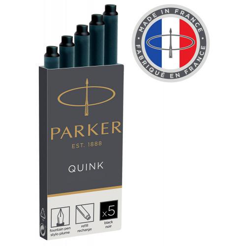 Картриджи Parker Quink Ink Z11 (1950382) черные чернила для ручек перьевых, 5 штук