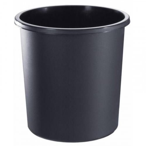 Корзина офисная 18 литров цельная черная