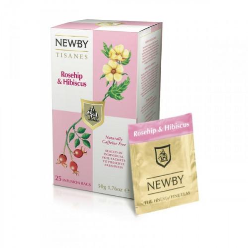 Чай Newby шиповник и гибискус 25 пакетиков