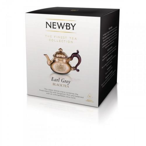 Чай Newby Earl Grey черный с бергамотом 15 пакетиков