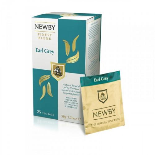 Чай Newby Earl Grey черный с бергамотом 25 пакетиков