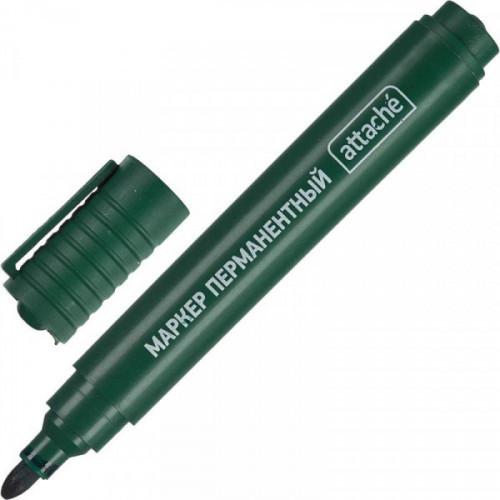 Маркер перманентный полулаковый Attache Economy зеленый (толщина линии 2-3 мм)