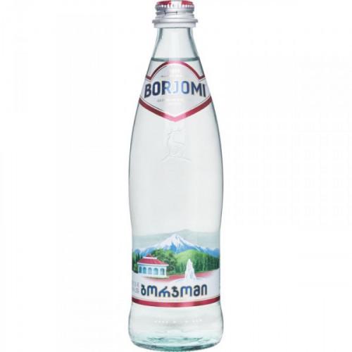 Вода минеральная Боржоми 0,5 литра газированная стекло 12 штук в упаковке