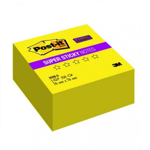 "Блок-кубик 3M 2028-S ""Super Sticky"" 76х76 желтые неоновые 350 листов"