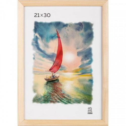 Рамка для фотографий деревянная Зебра А4 21x30 см натуральная