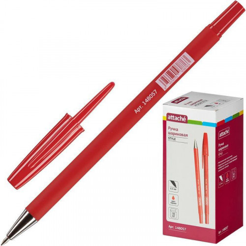 Ручка шариковая Attache Style 0,5 мм красный