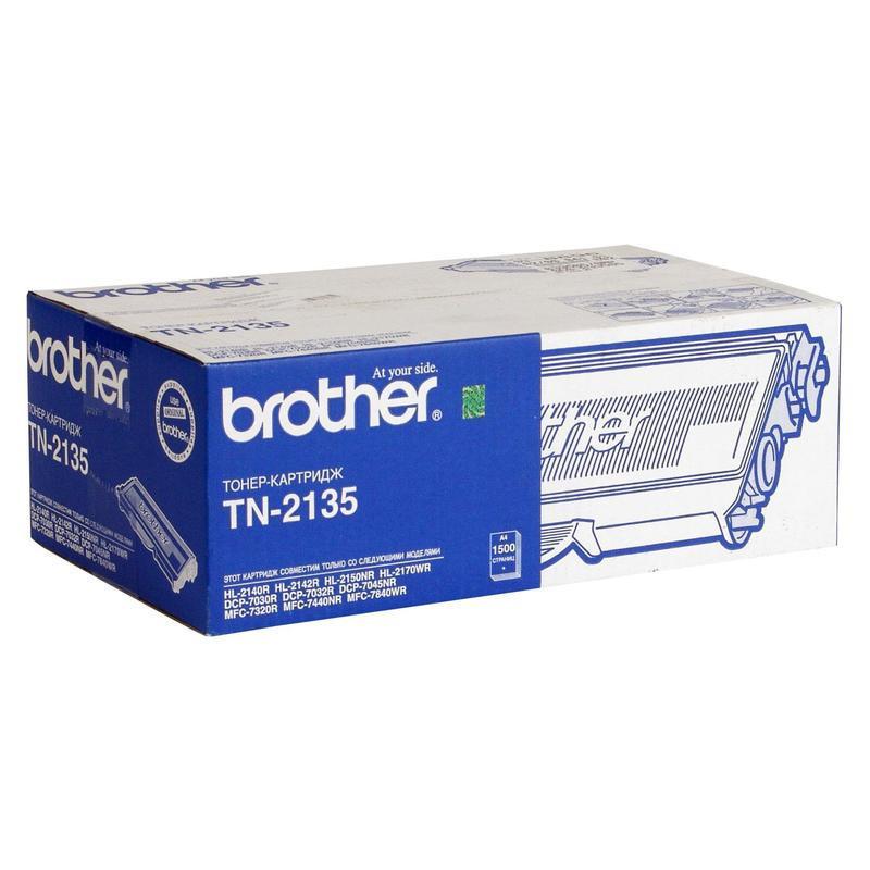 Картридж лазерный Brother TN-2135 черный оригинальный