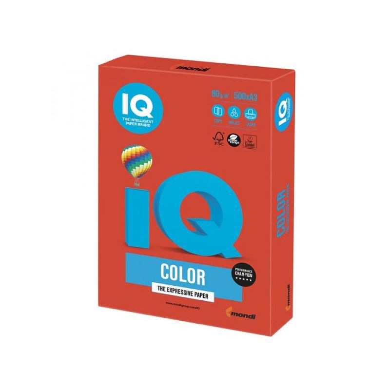 Бумага цветная IQ color (А3,80г,CO44- интенсив кораллово-красная)  500 л/пач