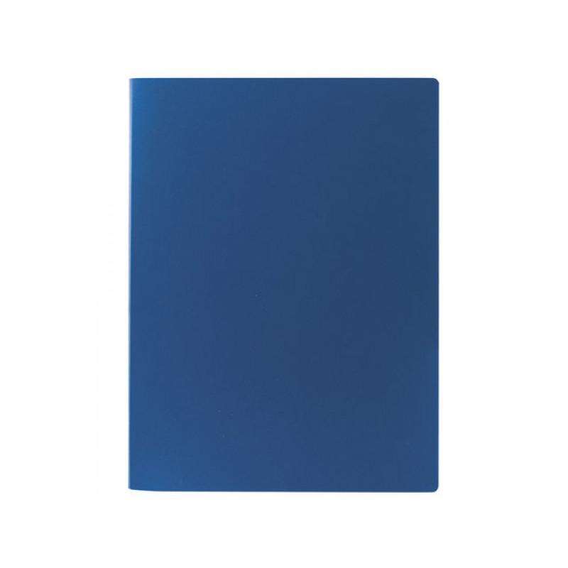 Папка на 2 кольцах STAFF, 21 мм, синяя, до 120 листов, 0,5 мм, 225716