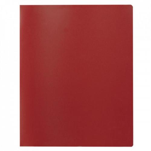 Папка на 2 кольцах STAFF, 40 мм, красная, до 300 листов, 0,5 мм, 225722