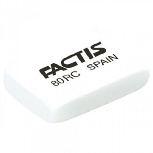 Ластик FACTIS 80 RC (Испания), прямоугольная, 28х20х7 мм, мягкая, синтетический каучук, CNF80RC