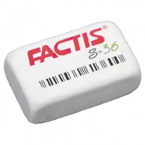 Ластик FACTIS S 36 (Испания), прямоугольная, 40х24х14 мм, мягкая, синтетический каучук, CNFS36