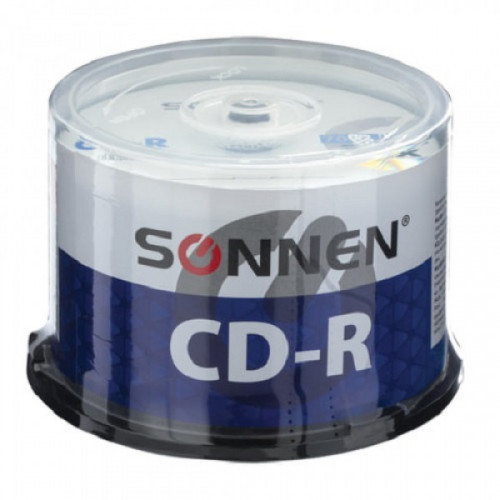 Диски CD-R SONNEN, 700 Mb, 52x, Cake Box, 50 шт
