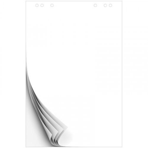 Блок бумаги для флипчартов OfficeSpace 67,5*98см, 50л., белый, 80г/м2, с перфорацией