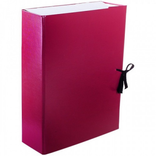 Короб архивный с завязками OfficeSpace разборный, БВ, 250мм, ассорти, клапан картон
