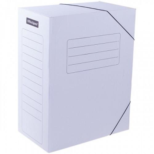 Папка архивная на резинках OfficeSpace, микрогофрокартон, 150мм, белый, до 1400л.