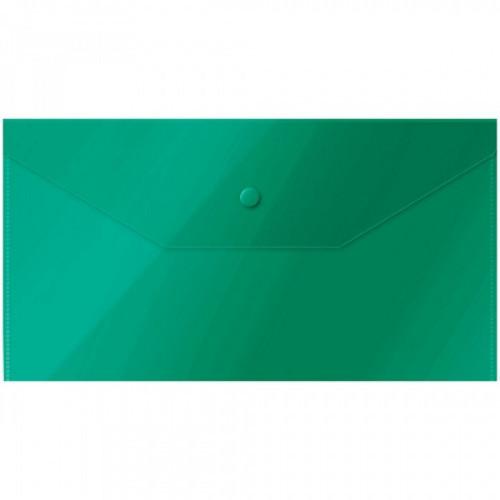 Папка-конверт на кнопке OfficeSpace, C6, 150мкм, зеленая