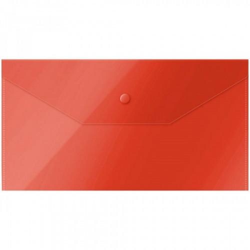 Папка-конверт на кнопке OfficeSpace, C6, 150мкм, красная