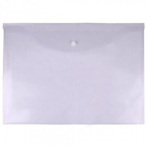 Папка-конверт на кнопке OfficeSpace А3, 150мкм, прозрачная