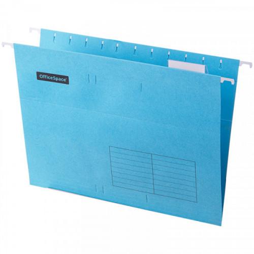 Папка подвесная А4, 310х240мм, картон, синяя, 80 листов, 10 штук, OfficeSpace