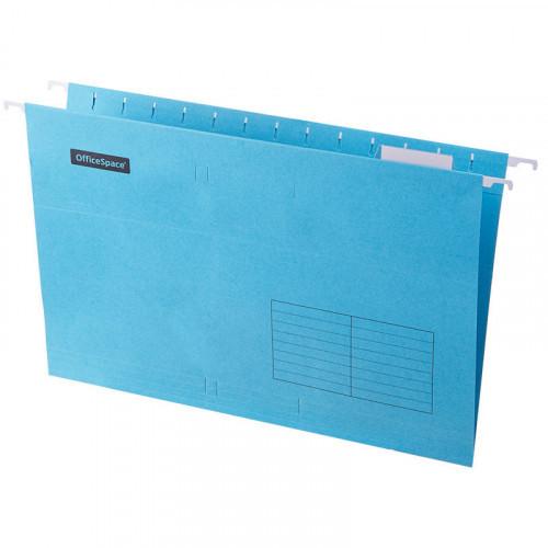 Папка подвесная А4, 365х240мм, картон, синяя, 80 листов, 10 штук, OfficeSpace Foolscap