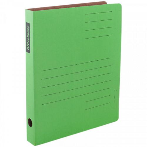 Скоросшиватель из микрогофрокартона OfficeSpace, ширина корешка 30мм, зеленый, до 300л.