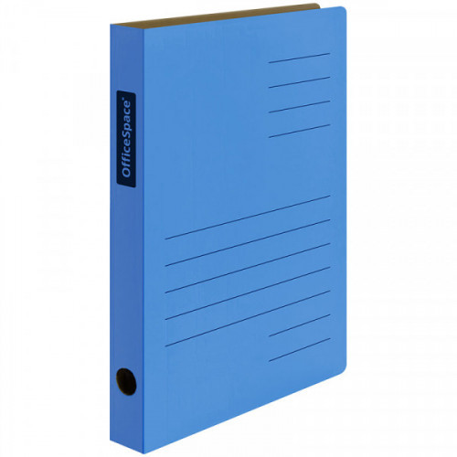 Скоросшиватель из микрогофрокартона OfficeSpace, ширина корешка 30мм, синий, до 300л.