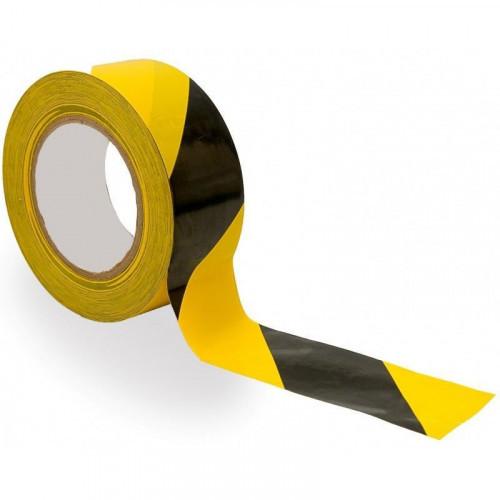 Клейкая лента 45мм х 36мx45мкм ,желтая с черной разметкой 36 шт/ уп