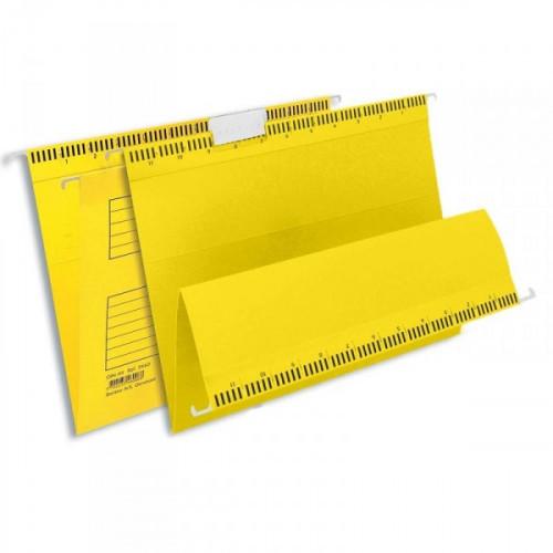 Подвесная папка Bantex А4 до 250 листов желтая 25 штук в упаковке